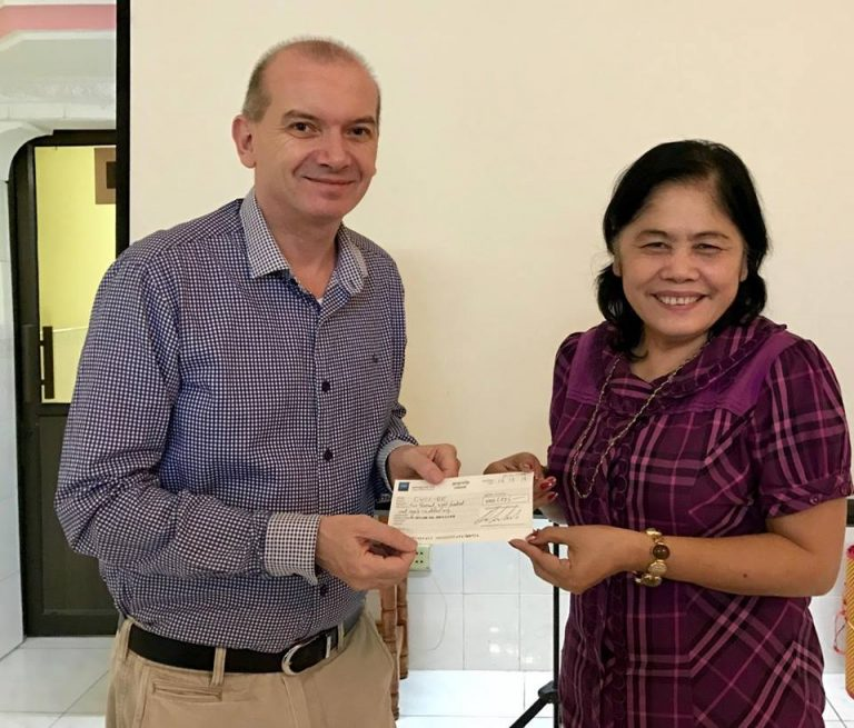 Congratulations to the team of A Streetcar Named Desire who today handed over a cheque to the Cambodian Women's Crisis Center.