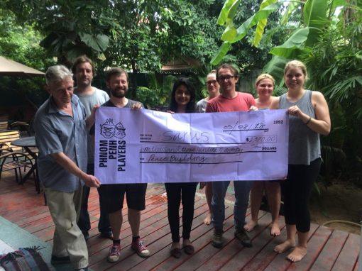 Phnom Penh Players Donate $1,380 to Sarus